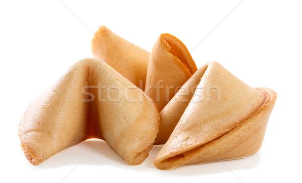 китайский fortune cookie чистый лист бумаги изолированный белый подарок Сток-фото © g215