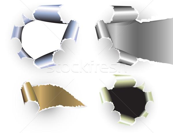 рваной бумаги набор аннотация дизайна пространстве письме Сток-фото © g215