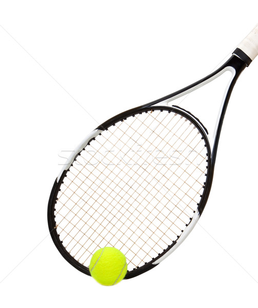 Tennis racket and ball isolated on white background  Stock photo © g215