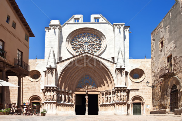 Catholic Cathedral in Spain. Tarragona Stock photo © g215