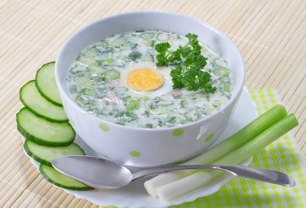 Сток-фото: лет · холодно · суп · овощей · продовольствие · яйцо