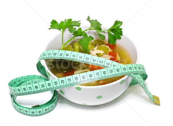 Zupa jarzynowa biały zdrowia zielone czerwony Zdjęcia stock © g215