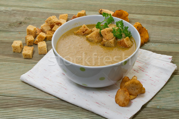 Soep geserveerd plaat hot vloeibare vers Stockfoto © g215