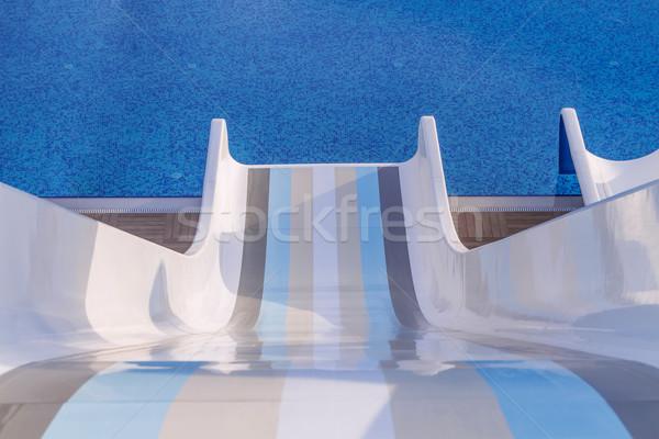 ウォータースライド プール 休日 スプラッシュ 泳ぐ 高速 ストックフォト © g215