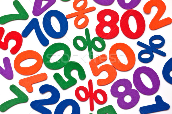 Background of numbers and mathematical symbols Stock photo © g215