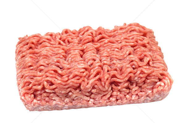 minced meat isolated on a white background Stock photo © g215