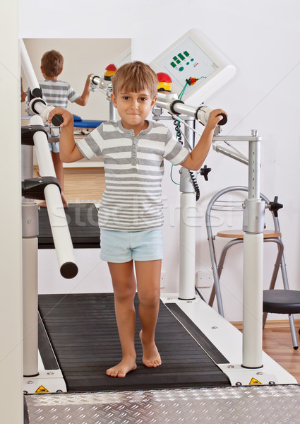 Boy on a Treadmill Stock photo © g215