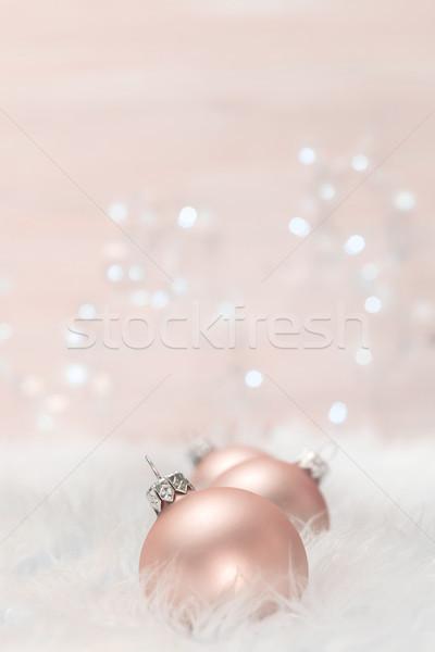 Natal luz projeto vidro Foto stock © g215