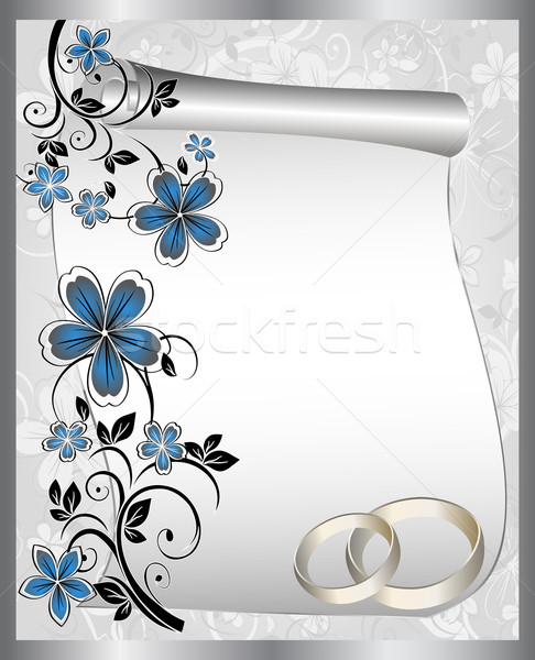 Wedding card with a floral pattern and place for text  Stock photo © g215