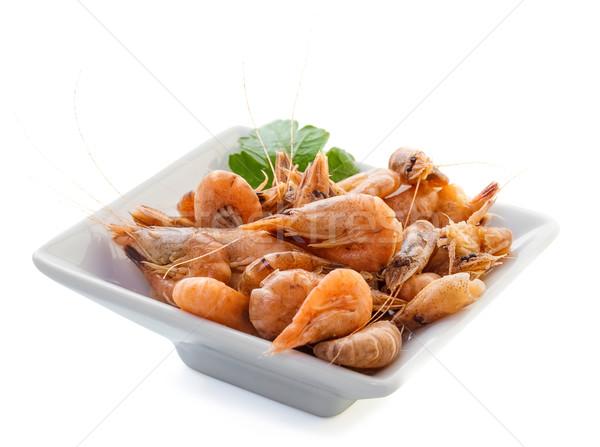 Deniz kabukları otlar beyaz kabuk yemek Stok fotoğraf © g215