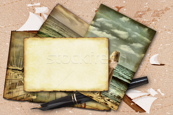 Abstract frame marine theme  Stock photo © g215