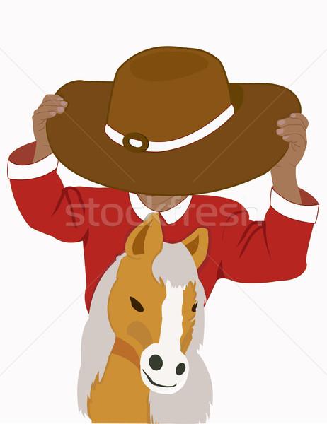 Equitazione pony bambino sport ragazzo Hat Foto d'archivio © g215