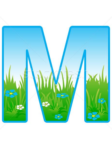 вектора шрифт Элементы пейзаж небе весны Сток-фото © g215