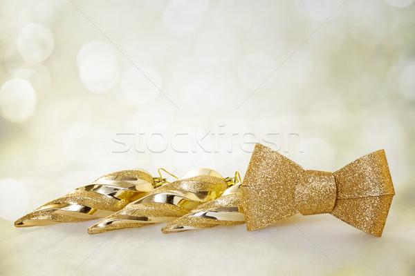 Noel altın dizayn cam kış renk Stok fotoğraf © g215