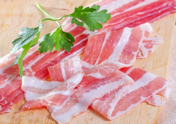 аппетитный бекон продовольствие красный мяса Сток-фото © g215