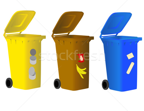 Garbage bins for sorting waste  Stock photo © g215