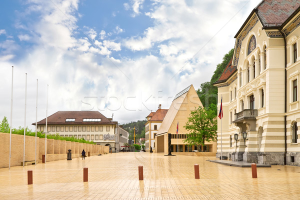 The building of parliaments of Liechtenstein on the main square. Stock photo © g215