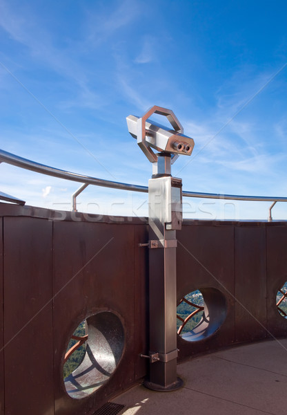 The telescope on the observation tower. Stock photo © g215