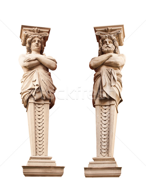 ATLANTA and Caryatid. Sculptural group. Stock photo © g215