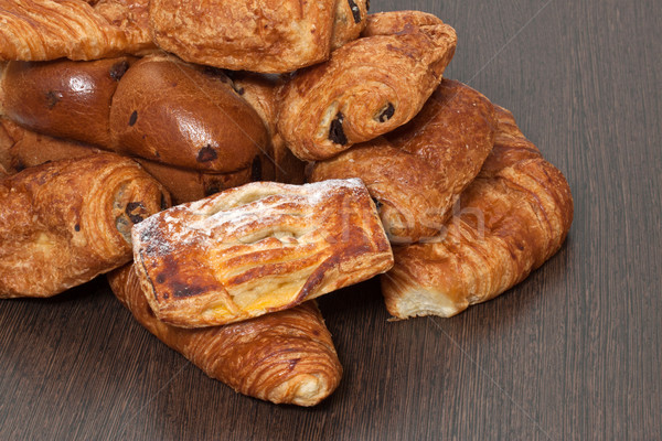 Appetizing French croissants on a table Stock photo © g215