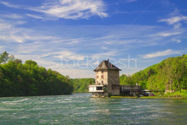 The castle Worth on the Rhine Falls. Northern Switzerland .Europ Stock photo © g215