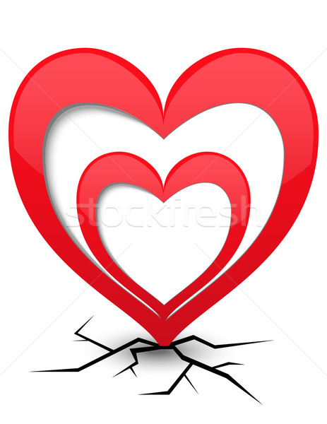 ícone coração rachaduras amor fundo padrão Foto stock © g215
