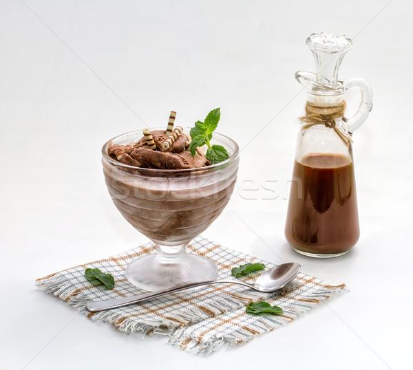çikolata dondurma nane gıda yaz sıcak Stok fotoğraf © g215