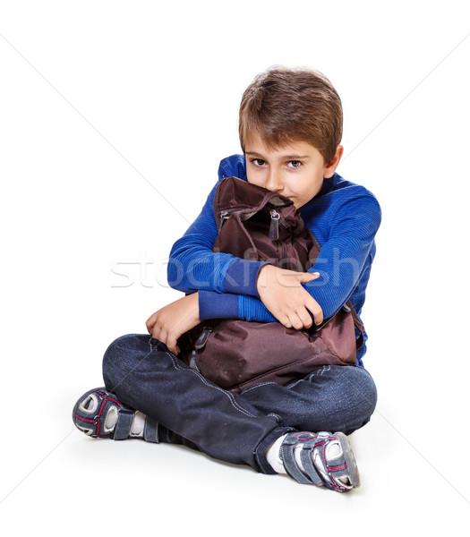 孤立した 白 子 少年 子供 ストックフォト © g215