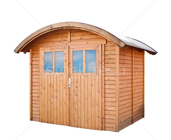 саду дома изолированный белый древесины строительство Сток-фото © g215