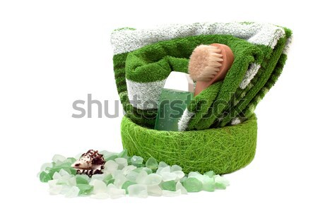 Towel and bath salts.  Stock photo © g215
