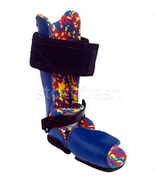 Ortopédico equipamento correção crianças criança azul Foto stock © g215