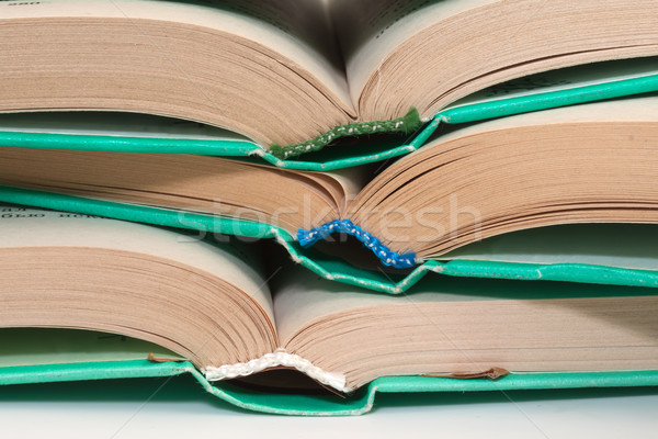 Stack of books in hardcover in close-up Stock photo © g215