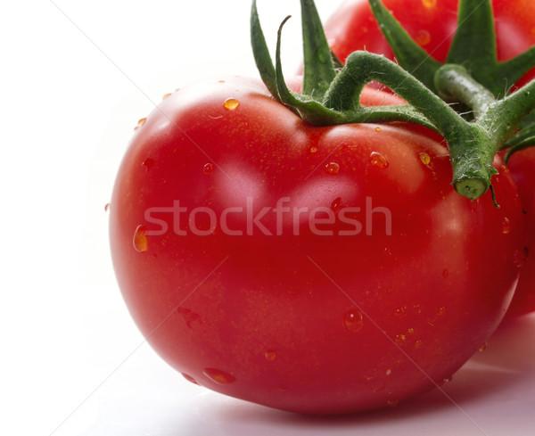 Tomates branco comida fruto verde salada Foto stock © g215