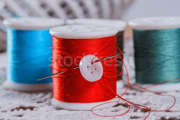 Fio trabalhar arte cor vintage têxtil Foto stock © g215