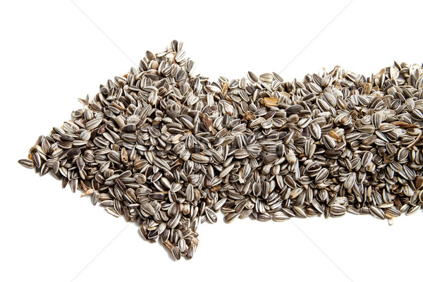 sunflower seeds are laid out in the form of arrows. Stock photo © g215