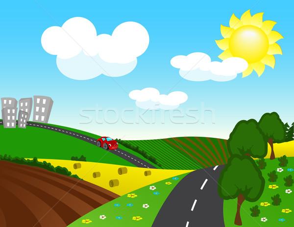 дороги город автомобилей улыбка спорт дизайна Сток-фото © g215