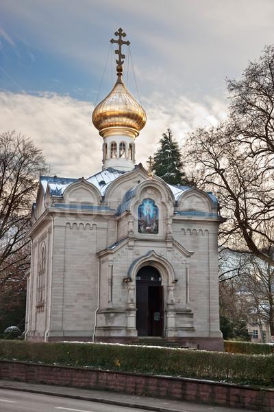 Russo ortodoxo igreja Alemanha atravessar ouro Foto stock © g215