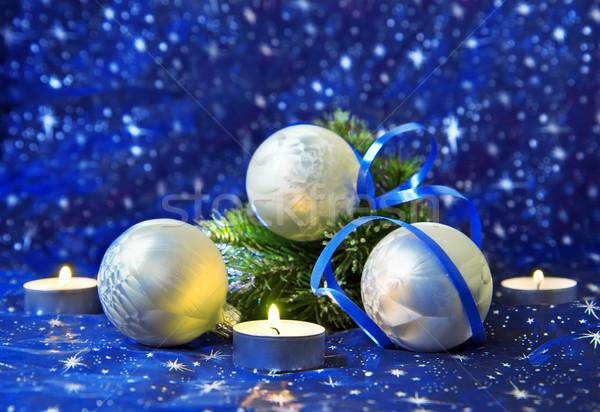 Рождества свечу фон праздник празднования объект Сток-фото © g215