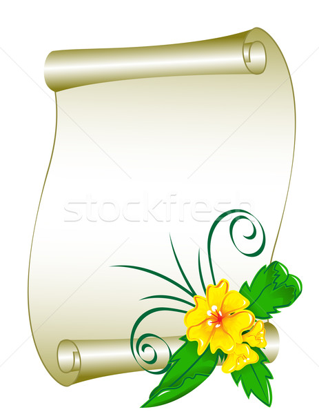 цветочный шаблон пространстве текста цветок дизайна Сток-фото © g215