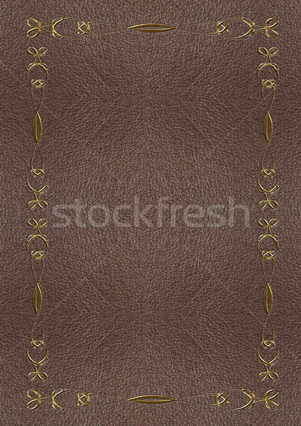 The texture of the skin with gold lettering Stock photo © g215