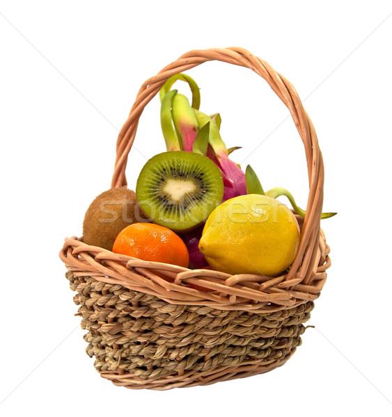 экзотический фрукты плетеный корзины желтый свежие Сток-фото © g215