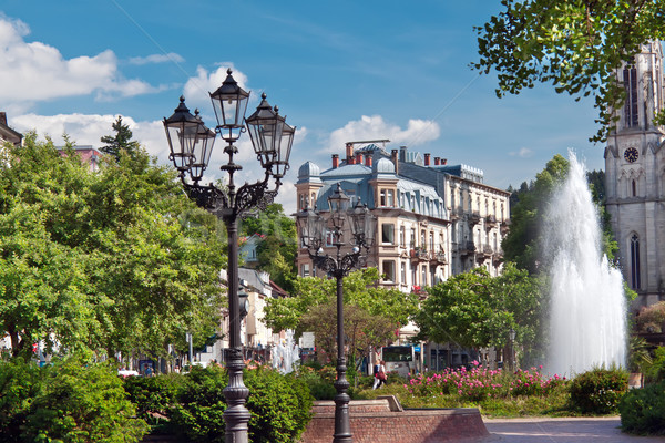 Central park with a fountain. Europe, Germany, Baden-Baden.  Stock photo © g215