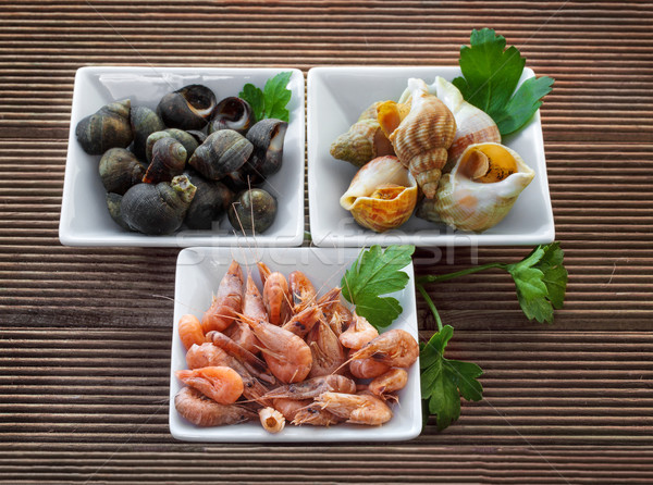 Deniz kabukları otlar sağlık pazar kabuk Stok fotoğraf © g215
