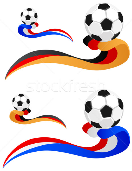 football in the wake of the flag.  Stock photo © g215