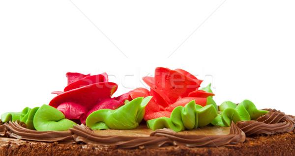 два роз изолированный белый цветок Сток-фото © g215