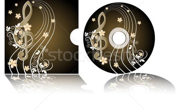 CD label with the treble clef Stock photo © g215