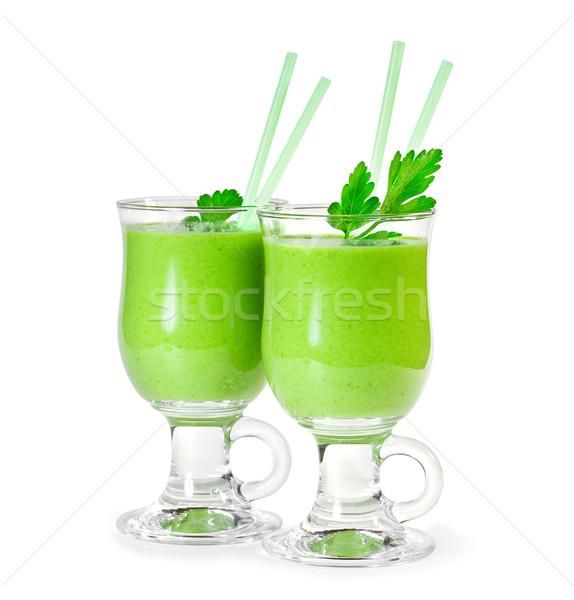 Lezzetli sebze iki yüzlü yeşil sebze gıda Stok fotoğraf © g215