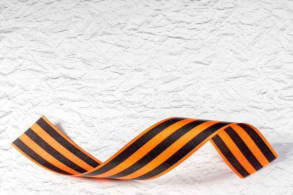 Szalag üdvözlőlap győzelem nap szeretet narancs Stock fotó © g215