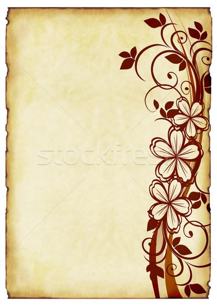 Oud papier ornamenten papier textuur muur ontwerp Stockfoto © g215