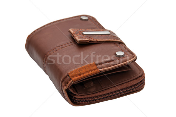 Brown purse, isolated on a white background. Stock photo © g215